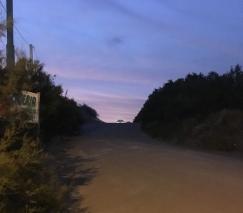 Der Weg zum Campingplatz