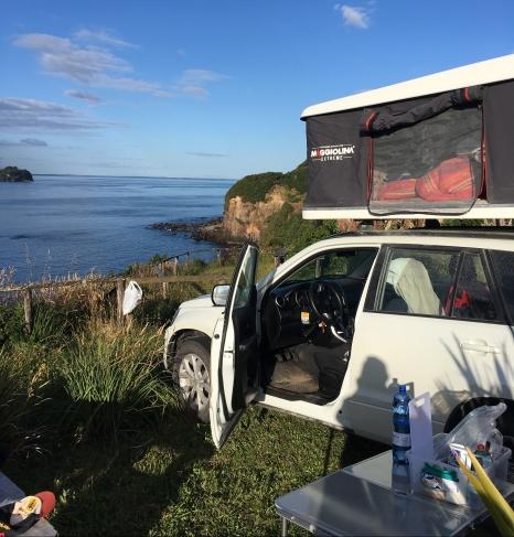 Campingplatz direkt am Pacifik