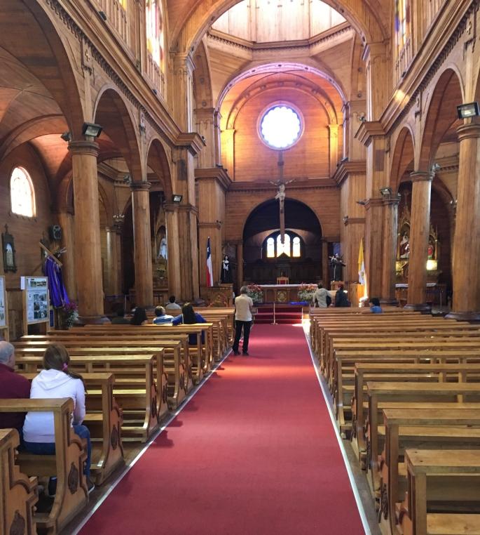 Die große Holzkirche von San Francisco im Centrum