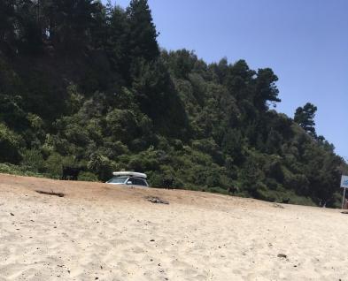 Campen direkt am Strand